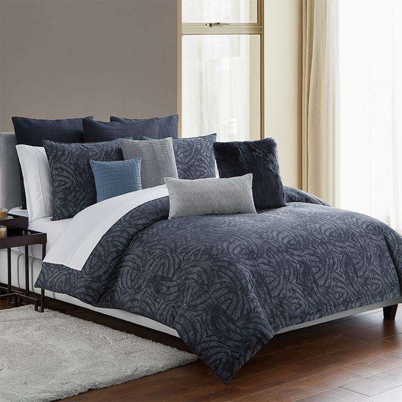 Comforter Sets Jakarta Indigo 3 Piece Comforter Set Latest Bedding Highline Bedding Co Comforter Sets King Comforter Sets