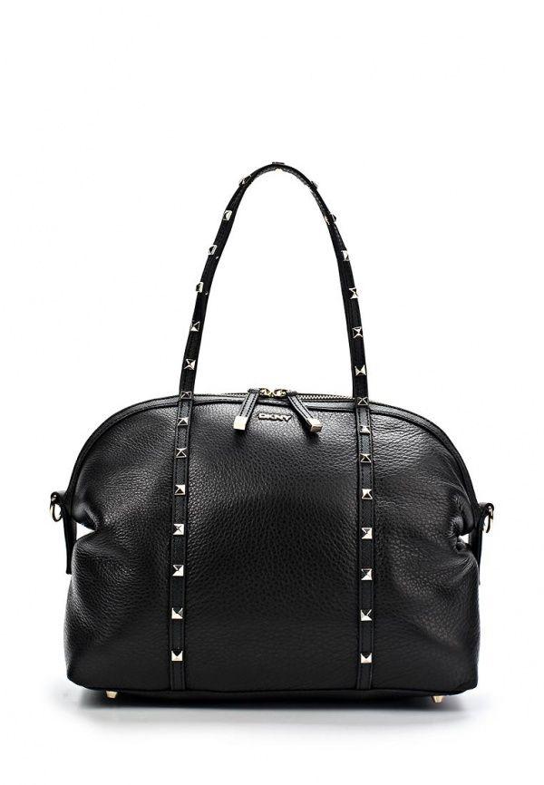 e41cbfc29001 Сумка DKNY Active женская. Цвет  черный. Материал  натуральная кожа. Сезон