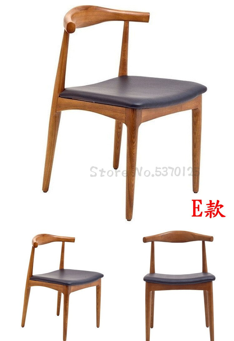 Nordic Dining Chair Solid Wood Chair Back Chair With Armrest Home Restaurant Study Desk Chair Aliexpr In 2020 Modern Wood Chair Modern Dining Room Solid Wood Chairs