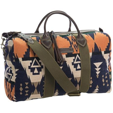 Pendleton Barrel Oversized Duffel Bag Wool