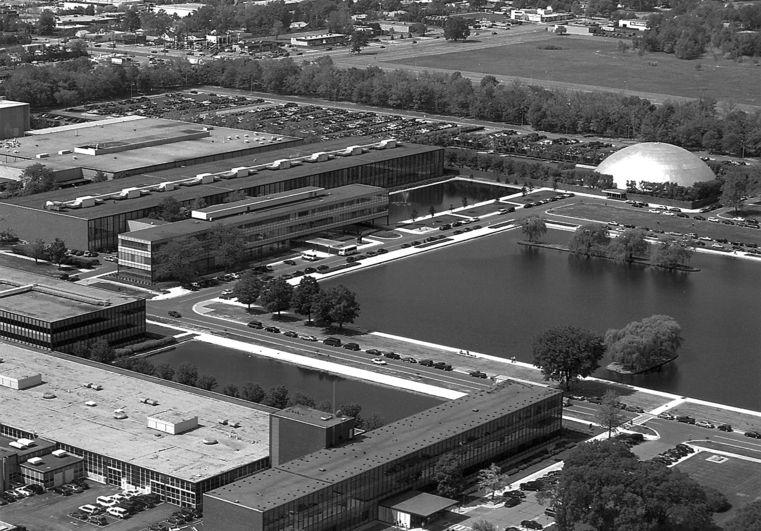 Gm Technical Center Warren Michigan 1949 55 Eero Saarinen Saarinen Architecture Design Drawing Eero Saarinen