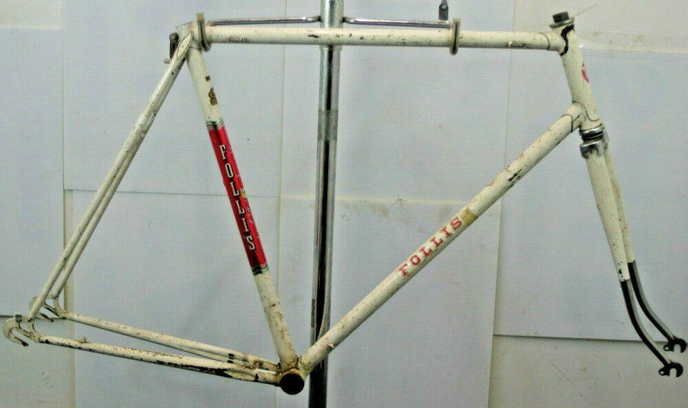 Follis Lyon Bike Frame Vintage Road French 60s Fixie Single Speed Charity