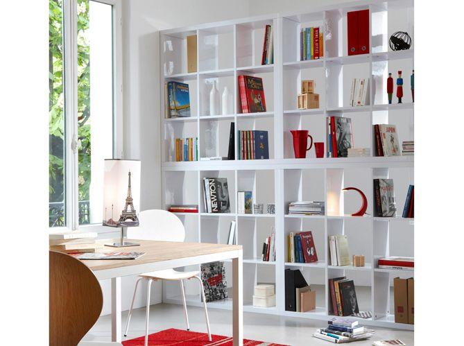 Bibliotheque Separation Aménagement Bibliothèque Pinterest - Meuble bibliotheque original pour idees de deco de cuisine