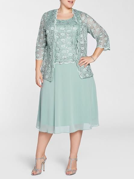 Laura Plus: for women size 14 . Laura Plus Scoop neck Sleeveless Sequined trim Matching bolero Back zip with hook