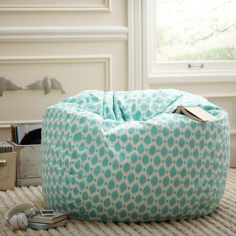 Aqua Bean Bag Chair For Teen Room