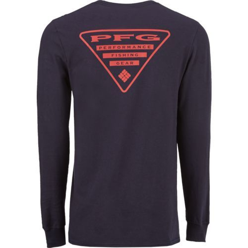 9dc13c1a45f Columbia Sportswear Men's PFG Triangle Long Sleeve T-shirt (Navy 02, Size X  Large) - Men's Outdoor Apparel, Branded Graphic T's at Academy Sports