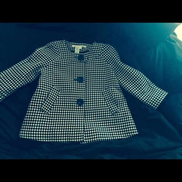 Max studios black and white jacket size XS Darling black and white max studios jacket. Size XS it's fully lined and very versatile. Worn once and in like new condition. Max Studio Jackets & Coats