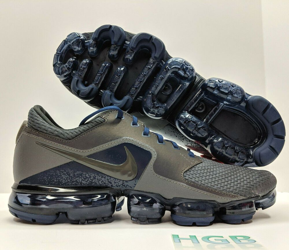 Nike Air Vapormax R Mens Midnight Fog Grey Blue Running Refective AJ4469-002  NIB 164bc431d