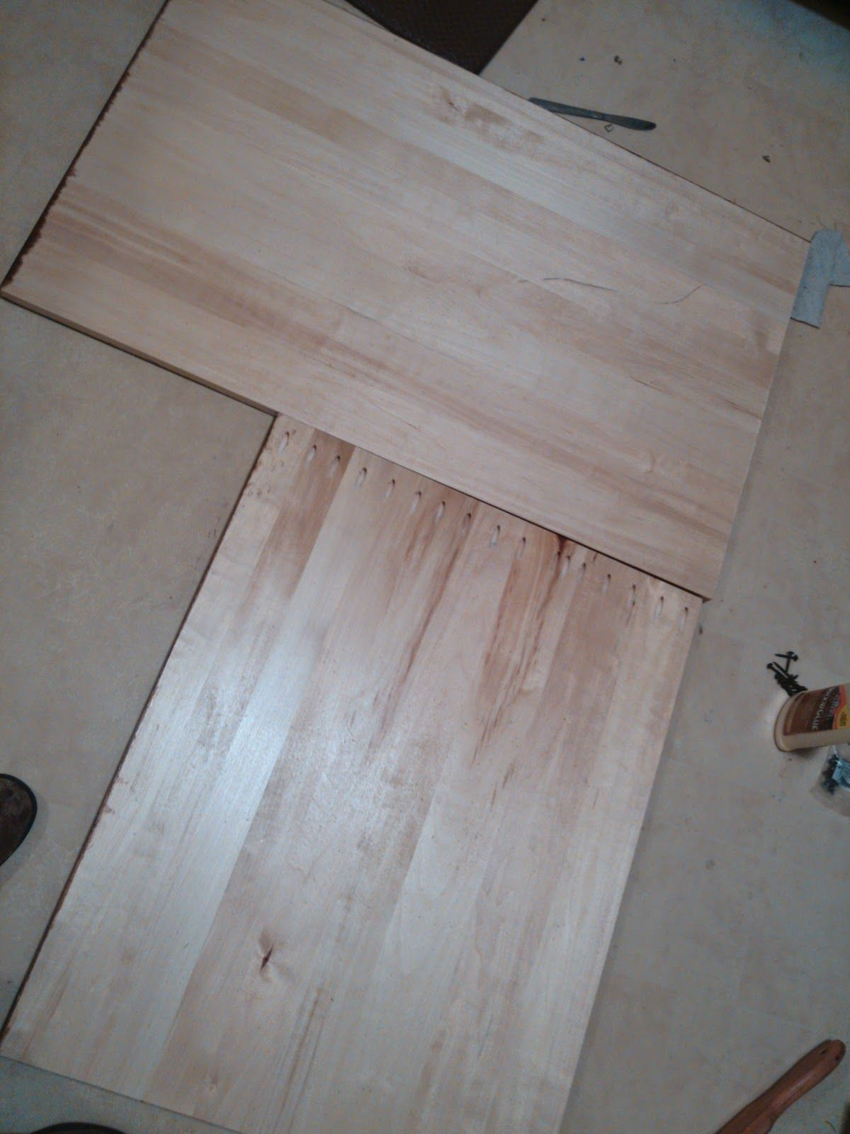 Joining 2 Pieces Of Countertop With Pocket Holes Diy Wood
