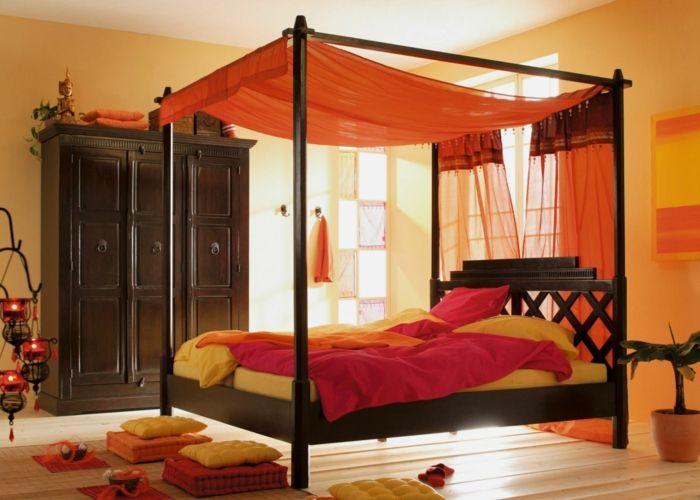 Stoffe und Farben beeinflussen die Ausstrahlung eines Himmelbetts - schlafzimmer himmelbett