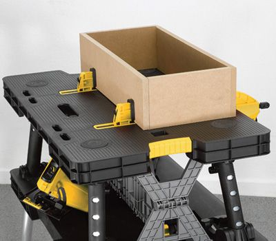 Keter Folding Work Table With Two Adjustable Clamps 1 000