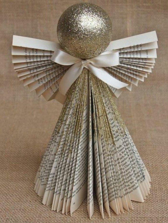 weihnachtsdeko ideen engel glitzer altpapier Weihnachten - weihnachtsdeko ideen