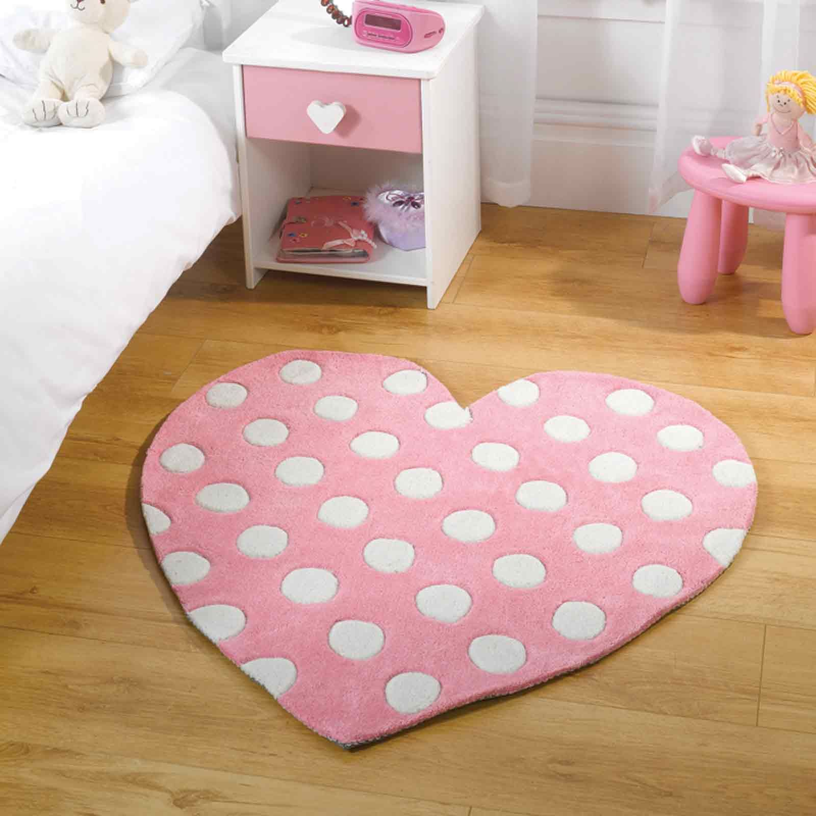 Play Polka Heart Rugs In Pink Kids Bedroom Pinterest Rustic