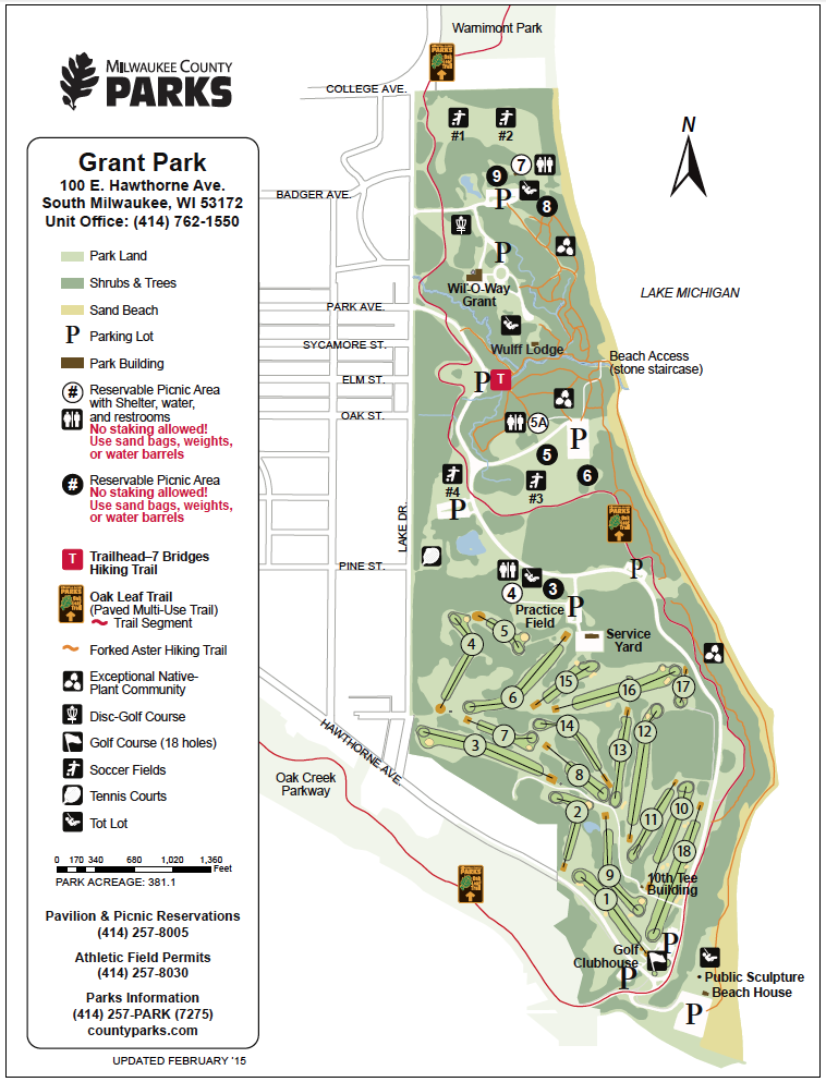 Grant Park Map map #GrantPark   South Milwaukee | Milwaukee | Wisconsin, Grant