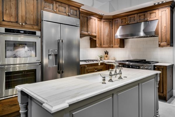 Chesapeake Cherry Natural Black Frontier Glaze Cabinetry By