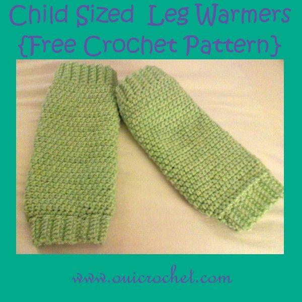 Child Sized Leg Warmers {Free Crochet Pattern} | Crochet | Pinterest