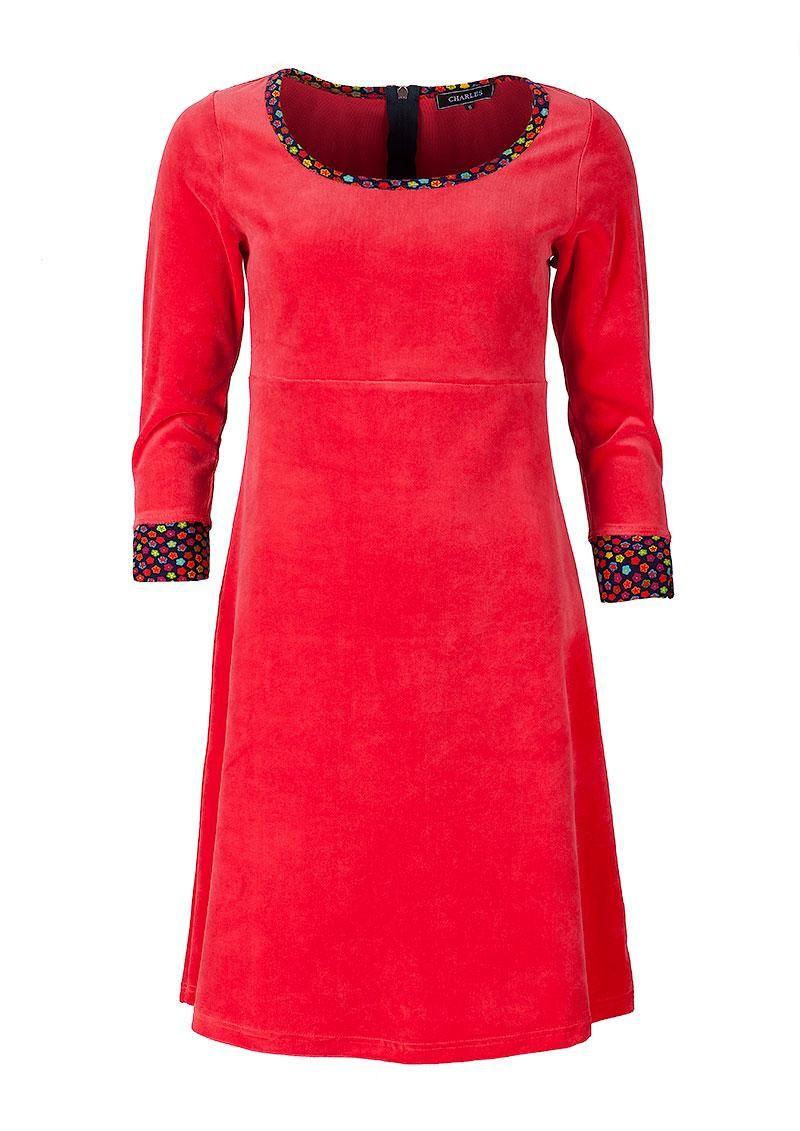 78b6c2fa Charles kjole rød velour | Rød velour kjole fra Charles hos denckerdeluxe