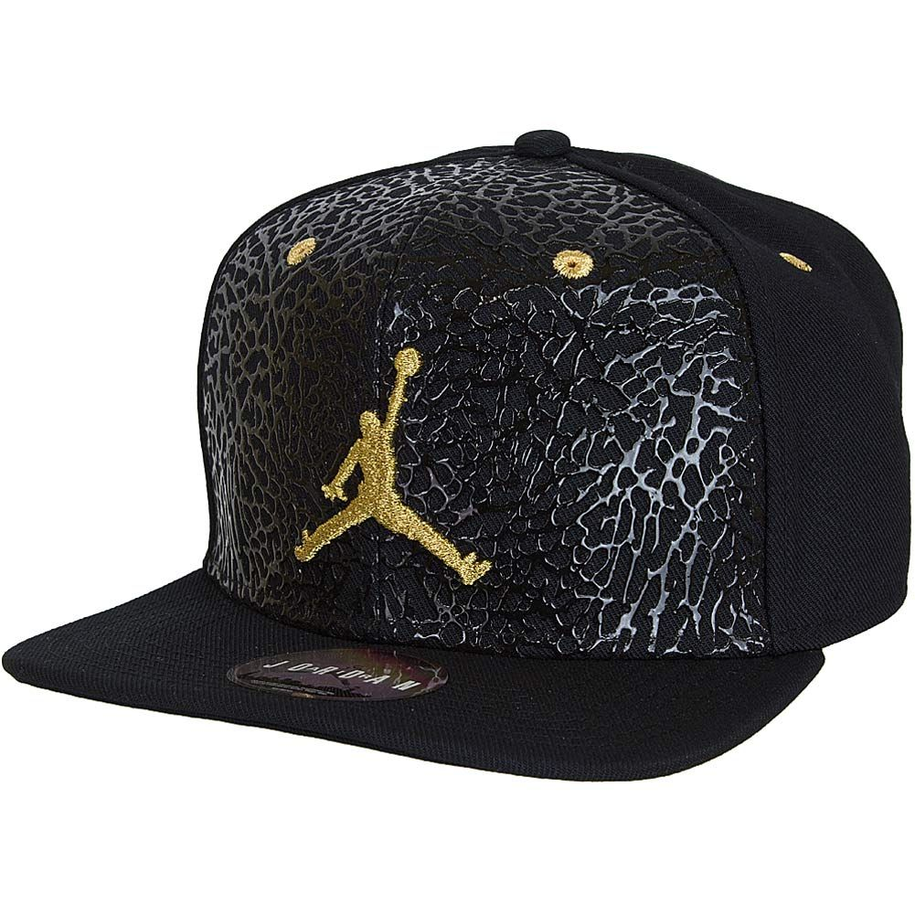 new product aa463 70ef9 Nike Air Jordan Jumpman Elephant Strapback Cap schwarz gold