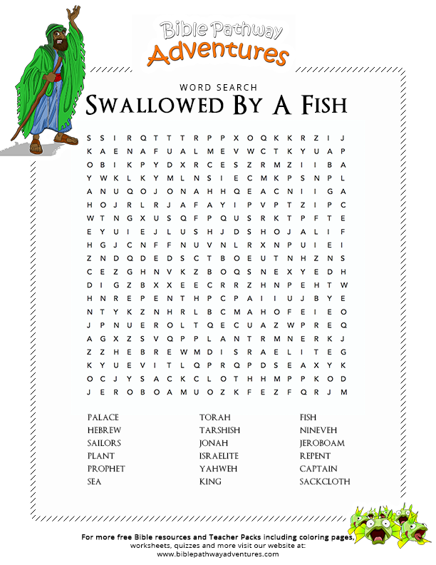 Printable Worksheets jonah and the whale worksheets : Free Bible Lesson Plan - Jonah and the Big Fish | Bible words ...