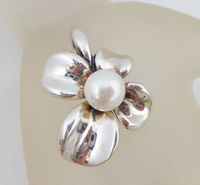 ANN KING STERLING SILVER CULTURED FRESHWATER PEARL ORCHID ENHANCER - http://designerjewelrygalleria.com/ann-king/ann-king-sterling-silver-cultured-freshwater-pearl-orchid-enhancer/