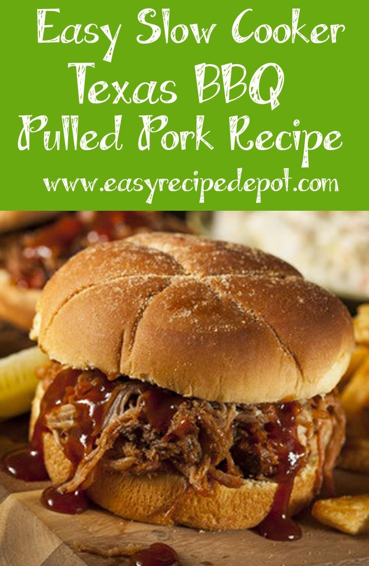 Easy Slow Cooker Texas Bbq Pulled Pork Recipe Crockpot