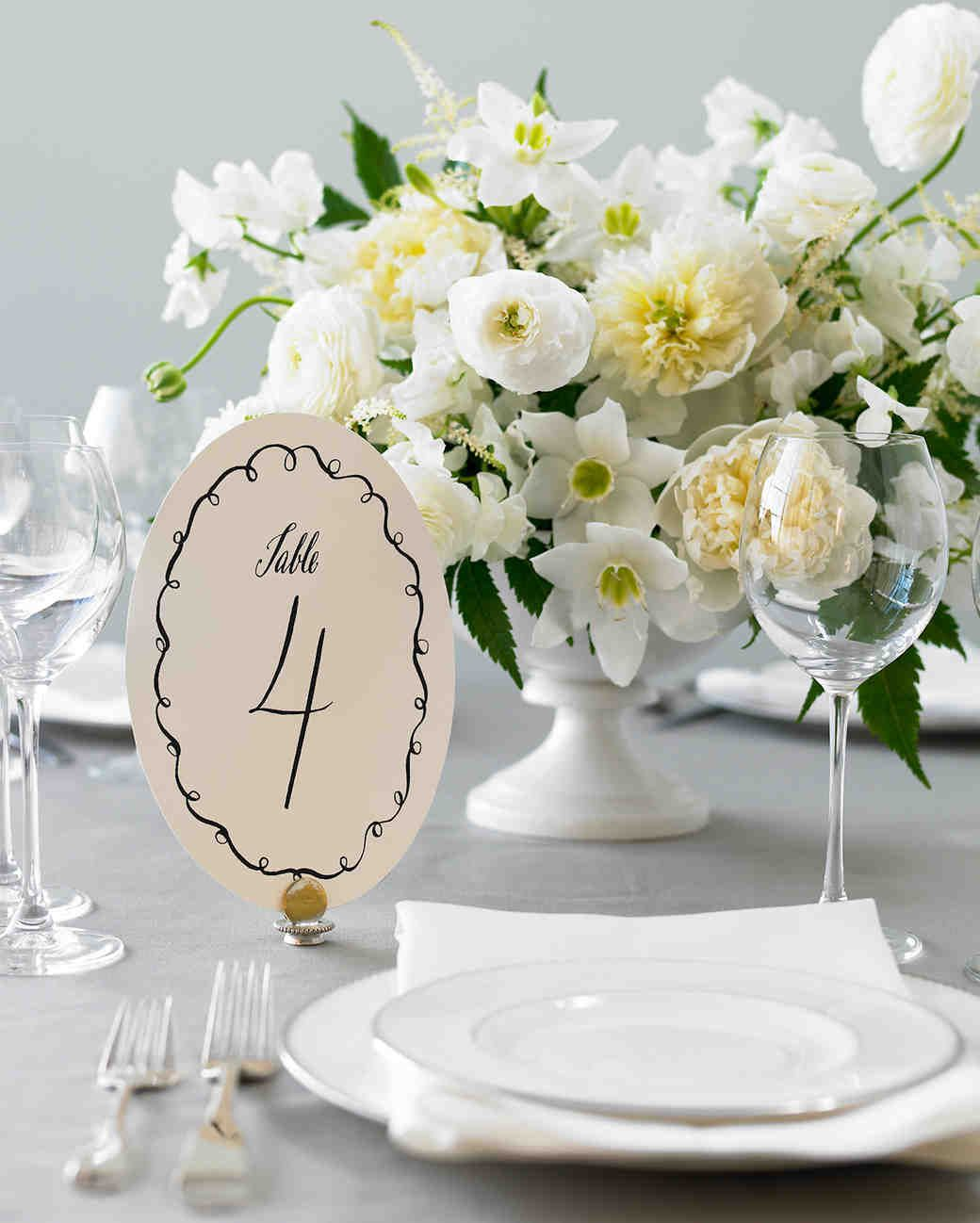 DIY Table Numbers to Count on for a Special Touch | Table numbers ...