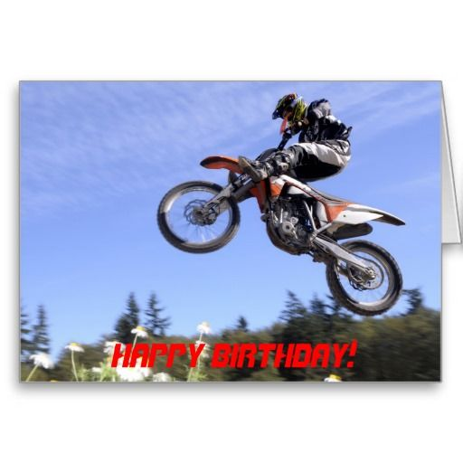Motocross rider birthday card – Motocross Birthday Cards