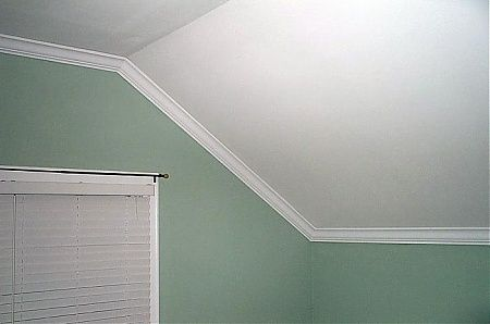Crown Moulding Attic Ceiling Slanted