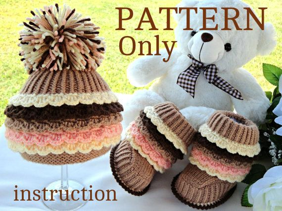 Knitting PATTERN Knit / Crochet PATTERN Baby Booties Baby Shoes Baby ...