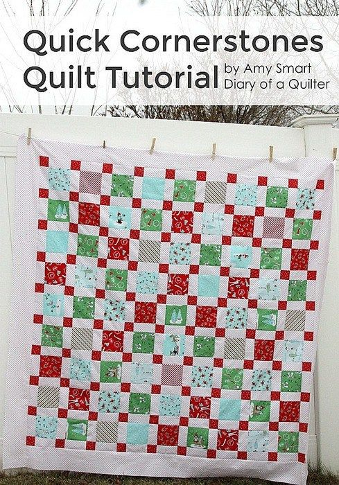Quick cornerstone quilt tutorial quilt tutorials tutorials and quick cornerstone quilt tutorial starting with disappearing diary of a quilter fandeluxe Image collections