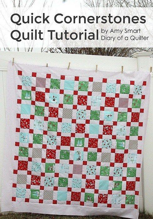 Quick Cornerstone Quilt Tutorial
