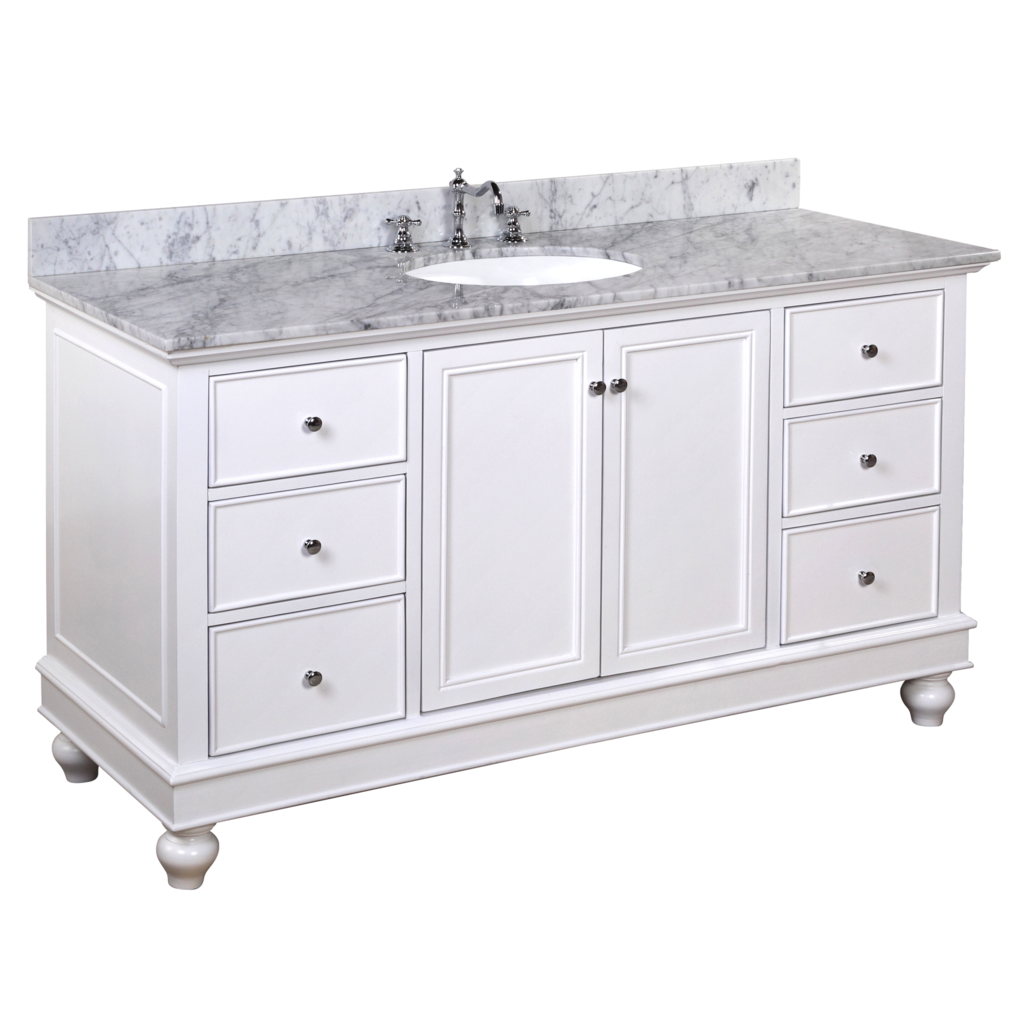 Bella 60 Inch Single Carrara White Kitchenbathcollection