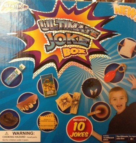 Ultimate Joke Box by Graphix by RMS International. $7.95. Nail through Finger, Fly and Spider. Goofy Teeth & Squirt Ring. Exploding Gum, Cigarette Burn,. Childrens Joke Box includes:. Snake Eggs, doggie poo, bullet shock, parking ticket