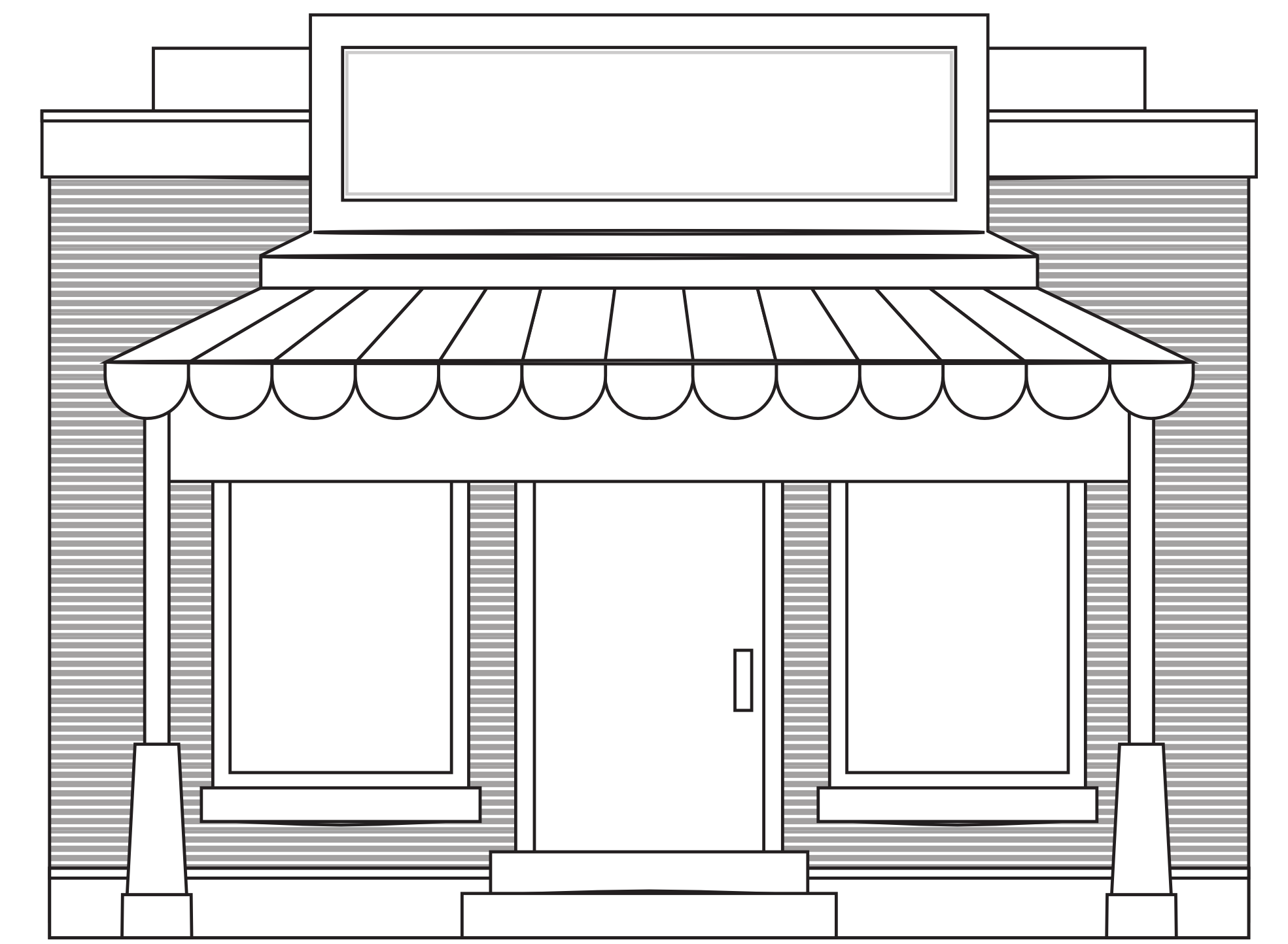 Pictures Of Boutique Store Fronts With Black Awnings - Store