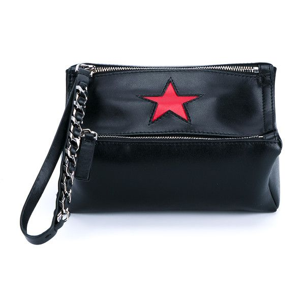 GIVENCHY Mini Pandora Bag ($330) ❤ liked on Polyvore featuring bags, handbags, mini leather handbags, leather purses, star purse, leather handbags and evening purses