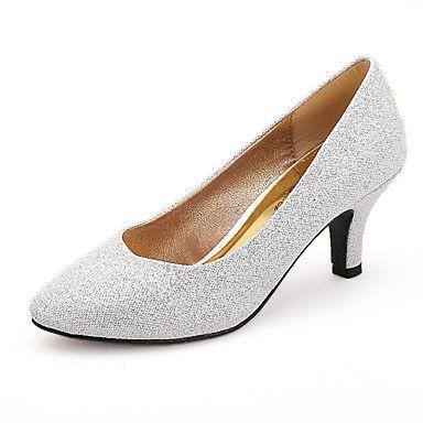 Sølv+/+Gull+-+Bryllup+sko+-+Dame+-+Rund+tå+-+høye+hæler+-+Bryllup+/+Formell+/+Fest/aften+–+NOK+kr.+255