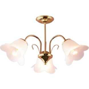 Buy Living Carolina Polished Brass 3 Light Ceiling Fitting At Argos Co Uk Your Online Shop For Ceiling And With Images Ceiling Lights Wall Ceiling Lights Polished Brass