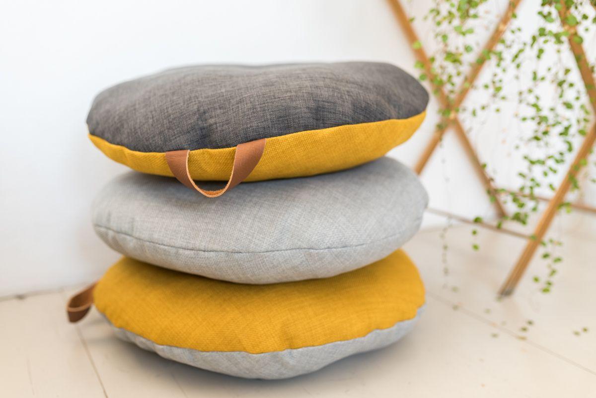 Diy Runde Bodenkissen Mit Ledergriff Couture Fabric Lining