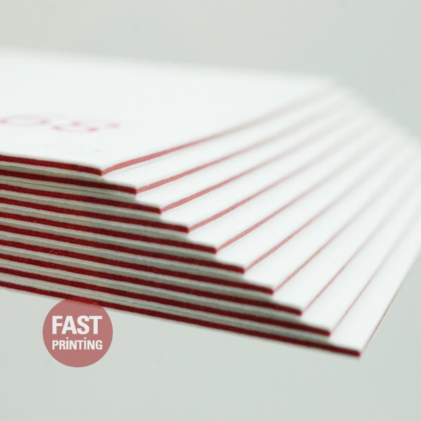 Triplex Business Card Colored Edge Fpbusinesscards Fastprinting Printing Business Cards Printed Cards Custom Business Cards