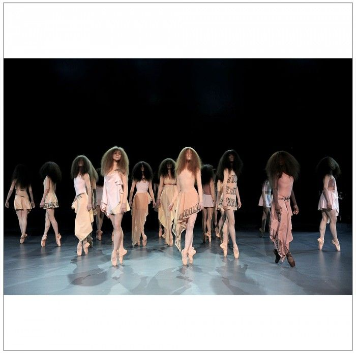 Viktor & Rolf has ballerinas showing off their couture collection in Paris.