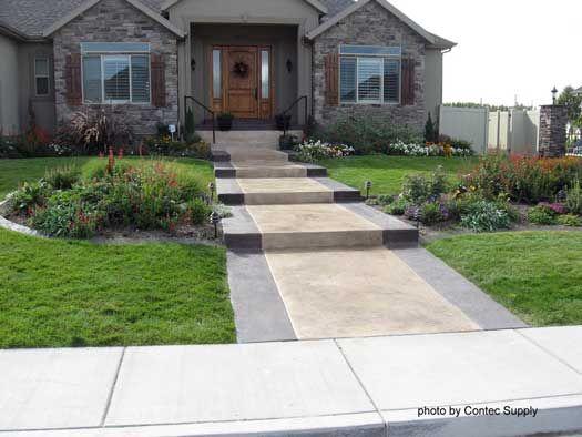 Concrete Floor Stain Concrete Flooring Staining Concrete Floor Porch Design Concrete Patio Curb Appeal
