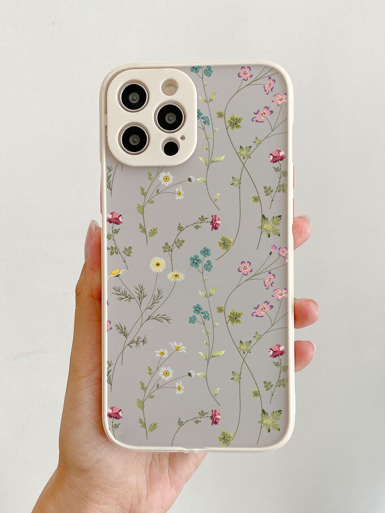 Ditsy Floral Contrast Frame Phone Case