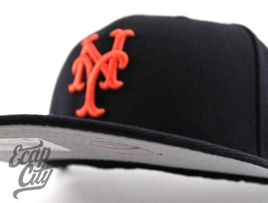 6b4b2f9e39a Custom New York Mets 59Fifty NEW ERA Fitted Cap   ECAP CITY