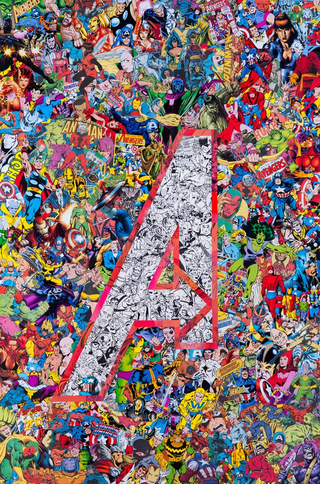Marvel Collage Comic Books Pinterest Vintage backgrounds