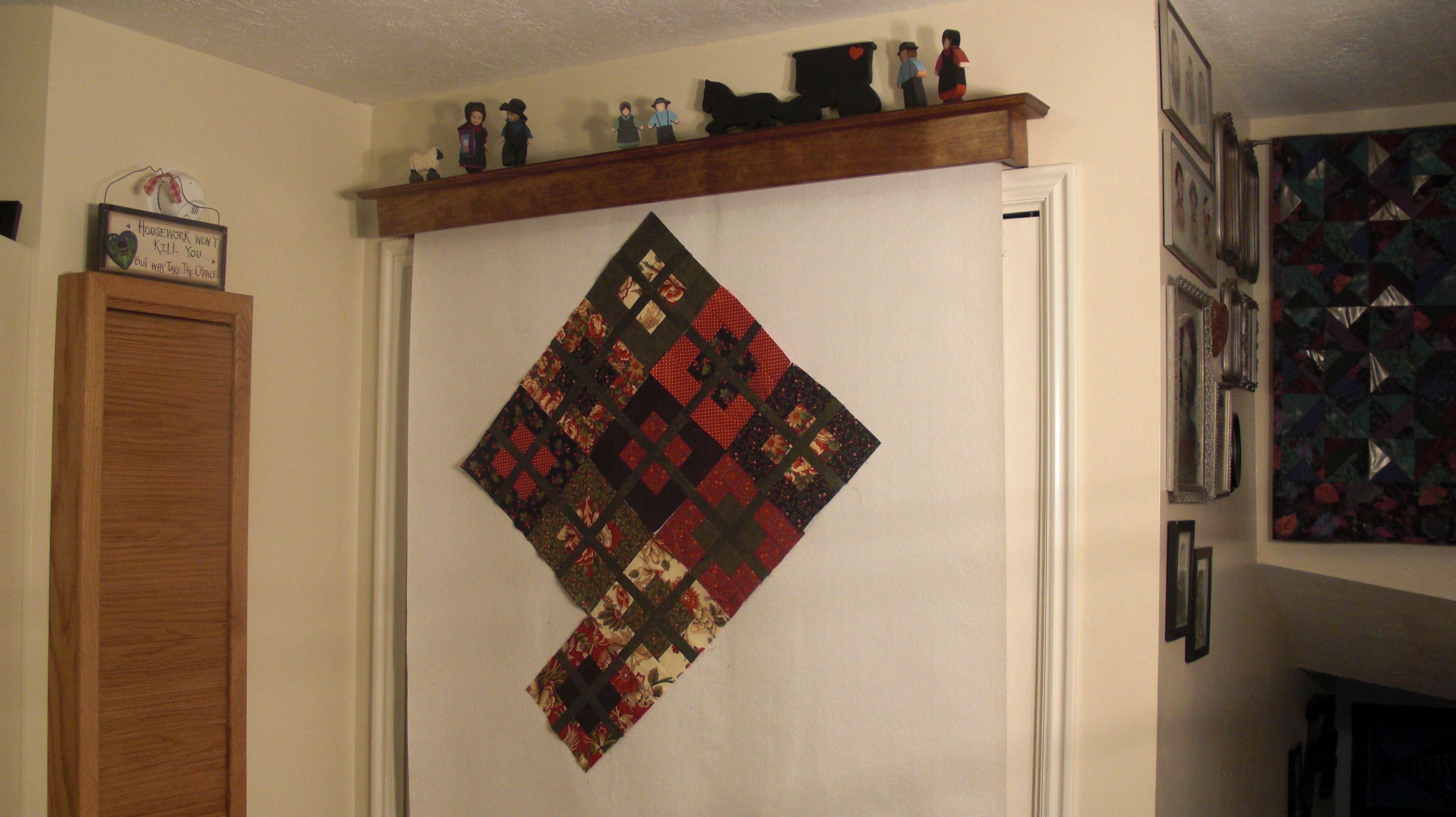 Christmas Quilt On The Vanishing Design Wall Quilt Design Wall Wall Design Sewing Rooms