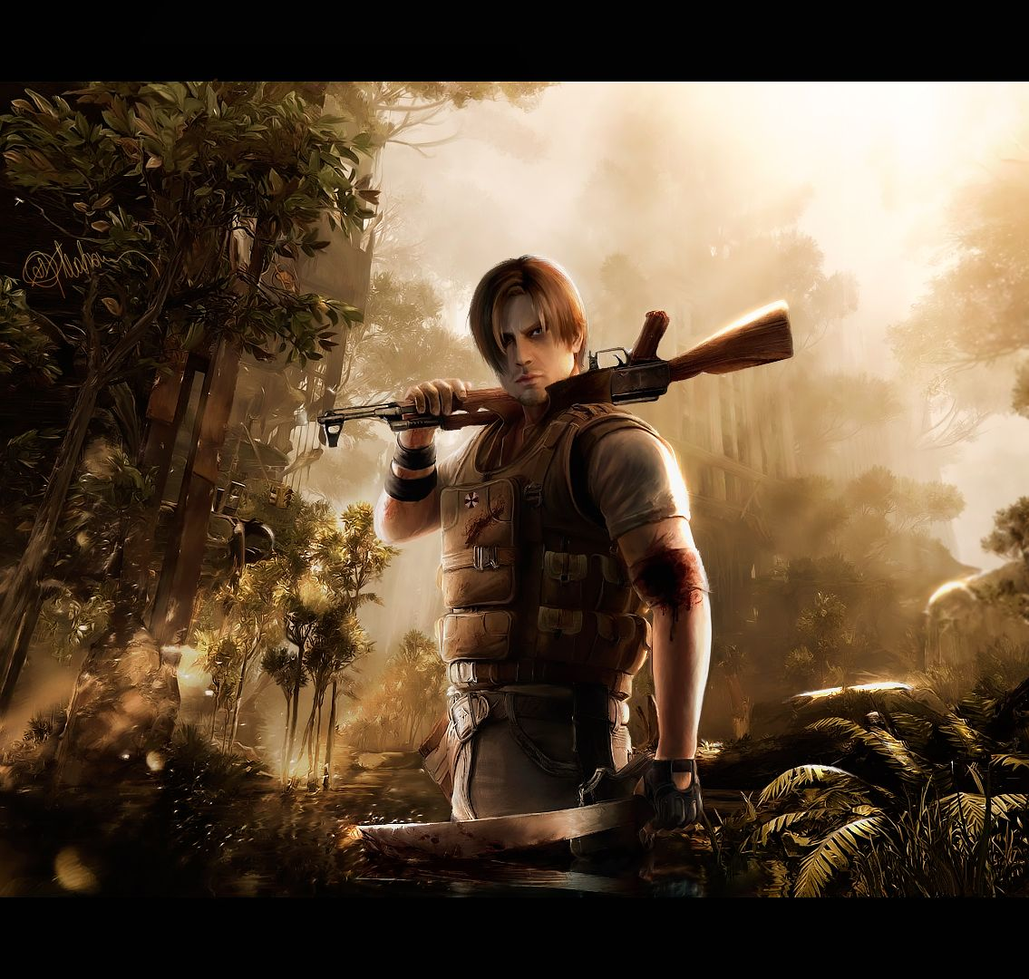 Resident Evil Hd Wallpaper: Resident Evil Images Drawing Art Of Leon Kennedy