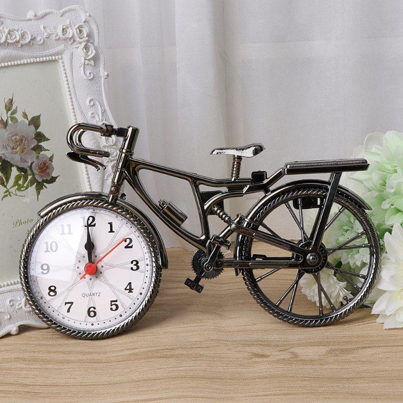 Fashion Stylish Bike Shape Alarm Clock For Children Kids Bicycle