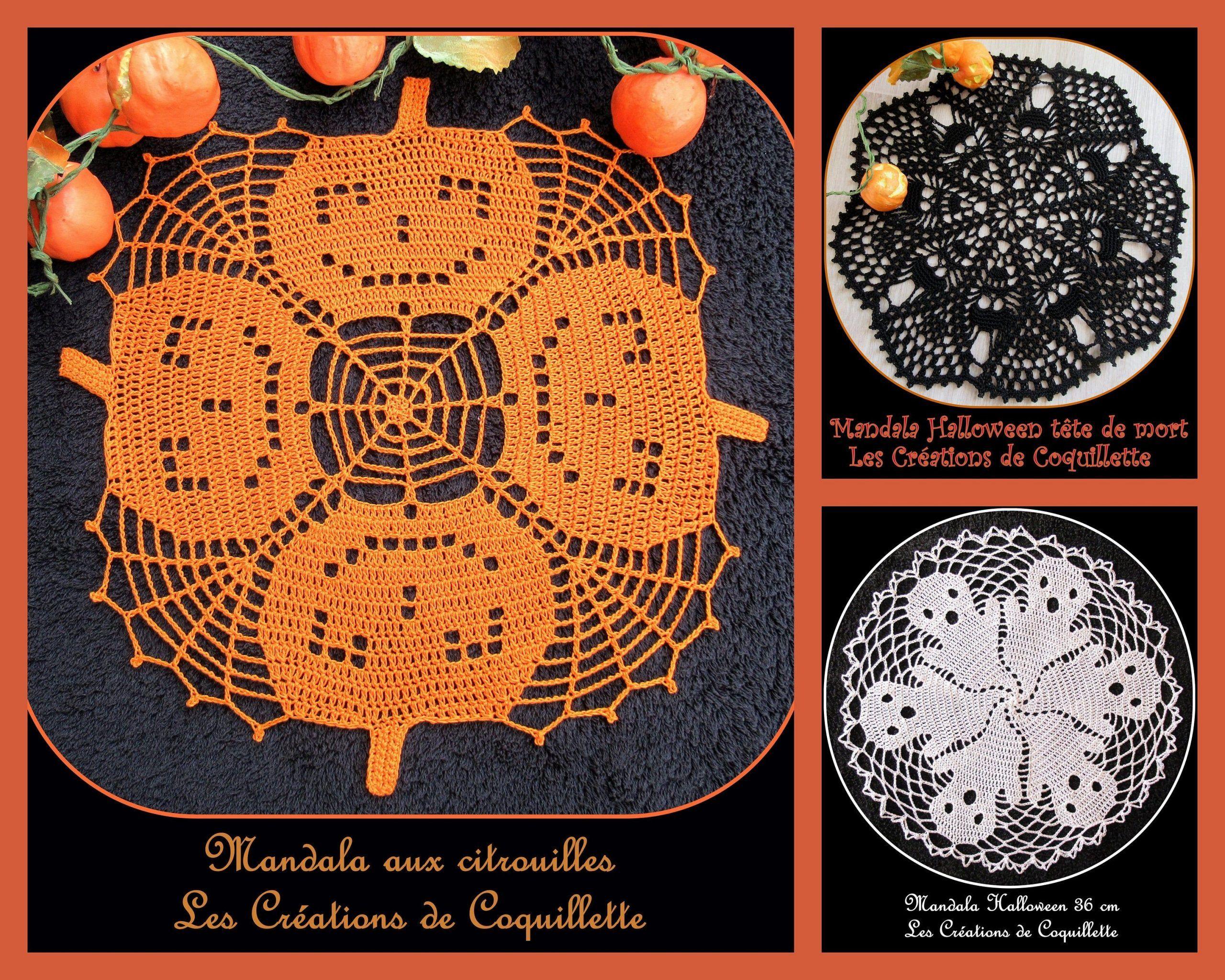 mandala halloween kürbis schädel geist tischset