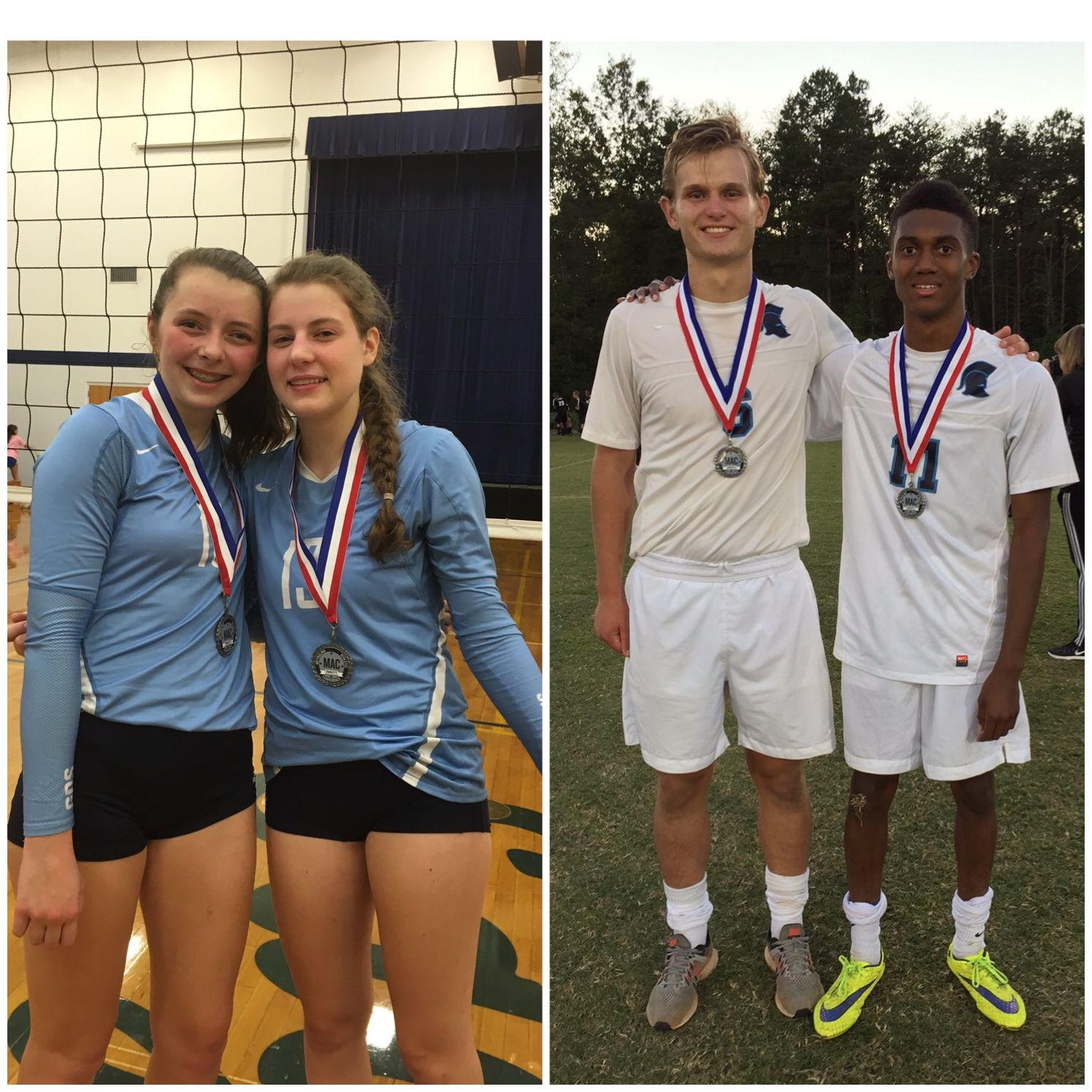 Congrats To Sidney Bing Lauralee Hurst For Making The Mac All Conference Volleyball Team And Nick Deely Ty Owen Volleyball Team Varsity Jacket Student Life