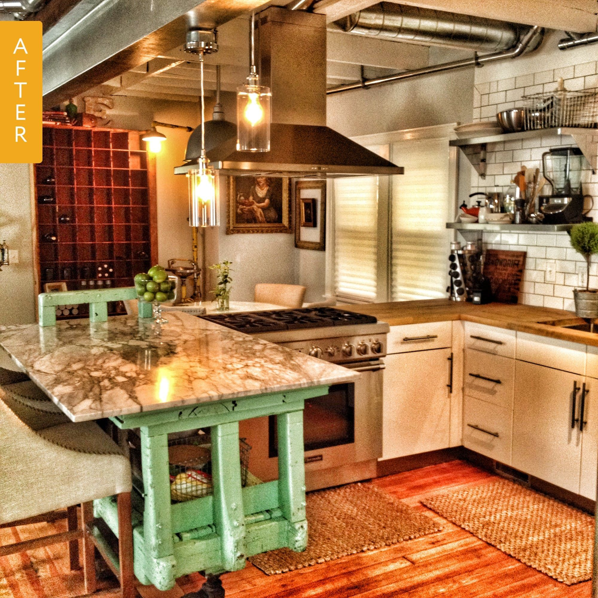 kitchen before  after an apartmentsized kitchen gets a